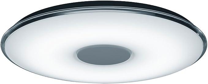 Plaf/ón con LED SMD integrado de 30W regulador integrado Mando a distancia color de luz variable y funci/ón de luz nocturna Cuerpo acr/ílico blanco. Trio Samurai