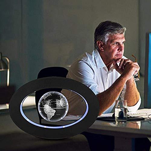 Globe Flottant GYLEJWH Carte Globe L/évitation Magn/étique Flottant Planisph/ère Globe avec L/éducation LED Lights Apprentissage Enseignement Ou De D/écoration De Bureau,Noir
