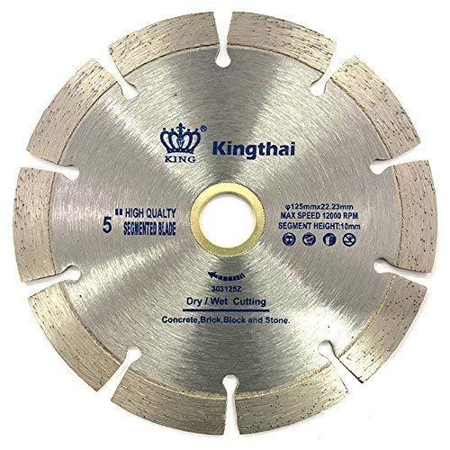 Kingthai 5 inch Segmented Diamond Blade for Concrete Masonry with 7/8-5/8
