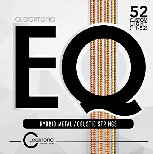 (Cleartone EQ 7811 Hybrid Metal Acoustic Guitar Strings, Custom Light,)