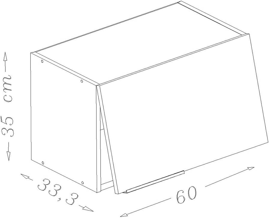 Berlenus CH6HN Kitchen Unit With Hood 60/cm High-Gloss Black