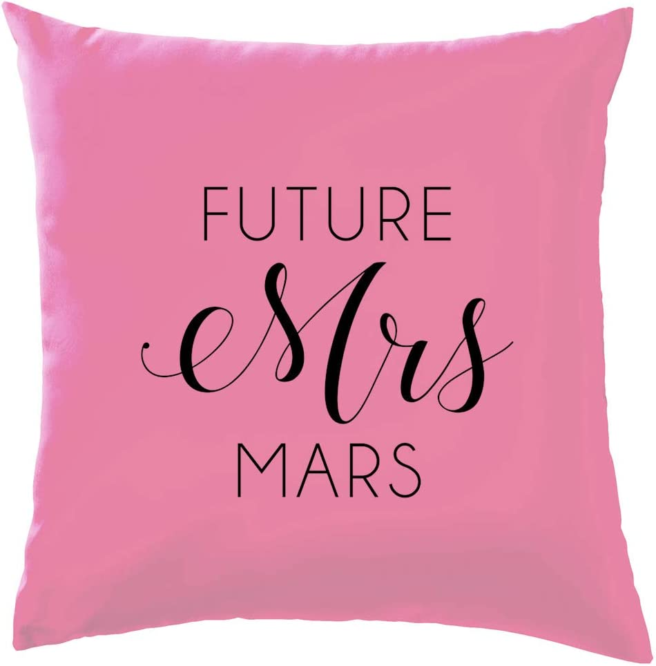 Amazon Com Dressdown Future Mrs Mars Cushion Pillow With Insert 41 X 41cm 16 Rose One Size Home Kitchen