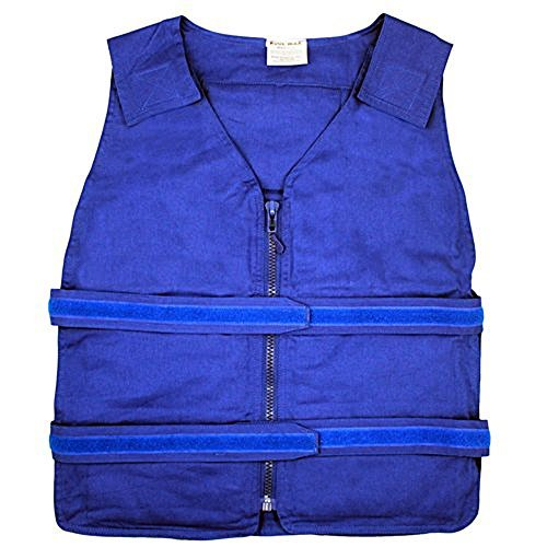 Vest Kool (Lightweight Kool Max Zipper Front Vest (S/M, Blue) by Kool Max)