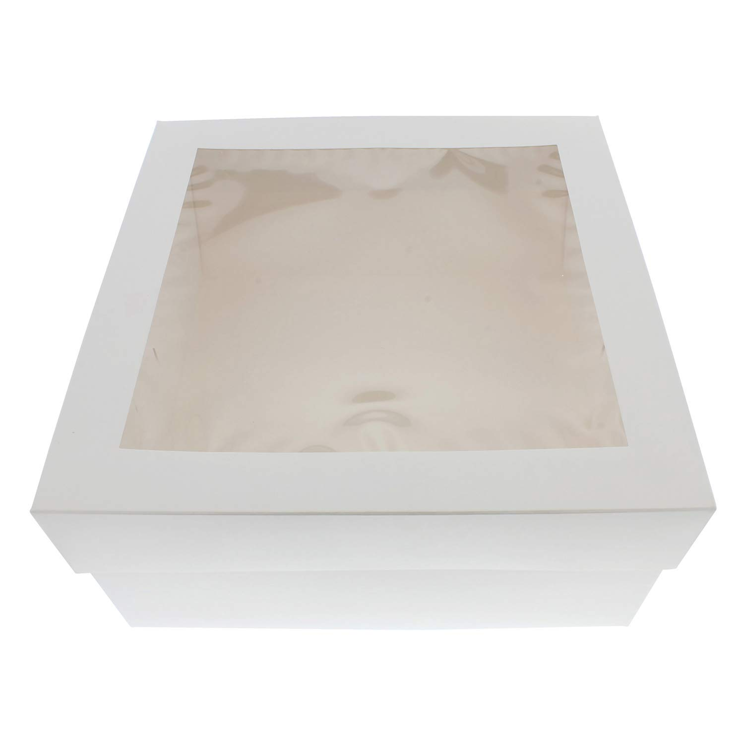 "SpecialT | Cake Boxes with Window 25pk 12"" x 12"" x 6"" Inch White Bakery Boxes, Disposable Cake Containers, Dessert Boxes"