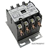 4 Pole 40 Amp, 120V AC Definite Purpose Contactor NEMA 40/50AMP HVAC
