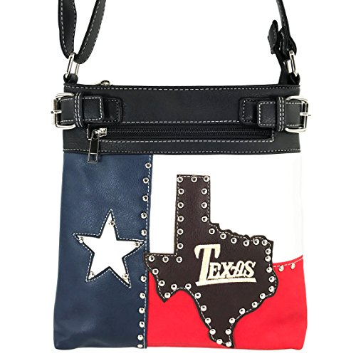Justin West Texas Red White Blue Flag Patriotic Chain Shoulder