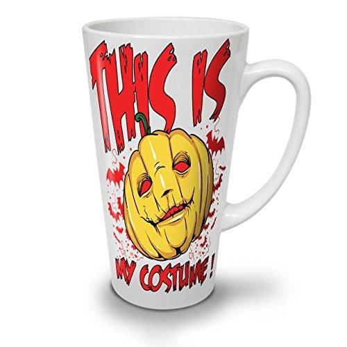 Blood Ideas Bad Costume (Halloween Costume Horror White Ceramic Latte Mug 17 oz |)