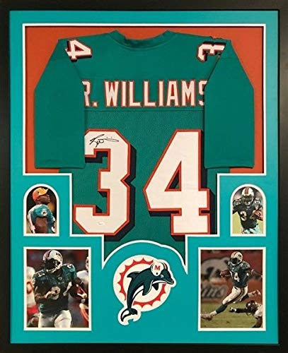 Ricky Williams Autographed Signed Dolphins 34X42 Deluxe Framed Jersey - JSA  Certified 81a88848d
