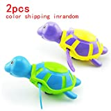 Cool Carton Water Animals Design Baby Pool Bath Toys,Wind Up Turtles&Crocodile Clockwork Play Swimming Alligator for Kid Educational Toys Infant baby Gift(2pcs)