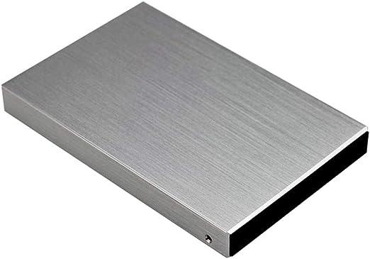 gazechimp 外付ハードディスクドライブ USB3.0 高速 HDDエンクロージャー シルバー メタル モバイルハードディスク - 1T