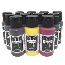 Badger Air-Brush Minitaire 12-Color Ghost Tint transparent Acrylic Paint Set