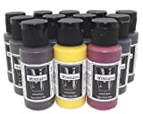 Badger Air-Brush Minitaire 12-Color Ghost Tint transparent Acrylic Paint Set
