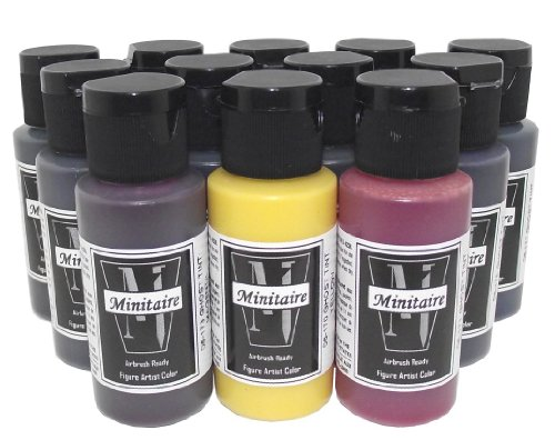 Badger Air-Brush Minitaire 12-Color Ghost Tint transparent Acrylic Paint (Best Badger Air-brush Acrylic Paints)