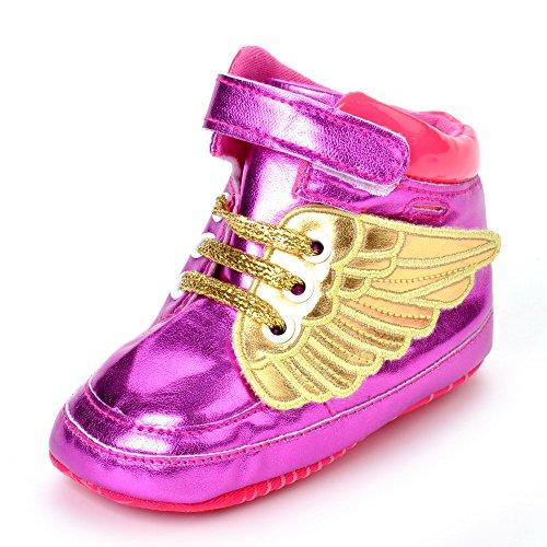 estamico Infant Kids girs infantil suave Suela Casual zapatos de bebé rosa (b) Talla:12-18 meses