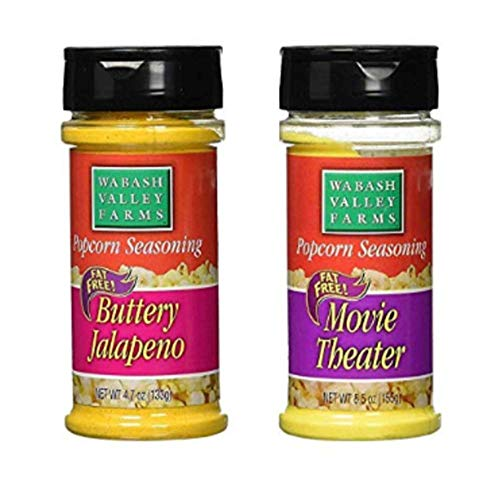 Wabash Valley Farms Popcorn Seasoning Best of the Best - Buttery Jalapeno and Movie Theater - Great for Meat and Vegetables - Fat-Free, 0 Calories Per Serving