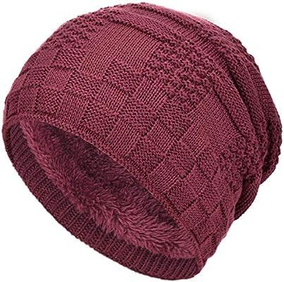 Men/'s Women Unisex Knit Baggy Beanie Winter Hat Ski Slouchy Cap Skull Oversize
