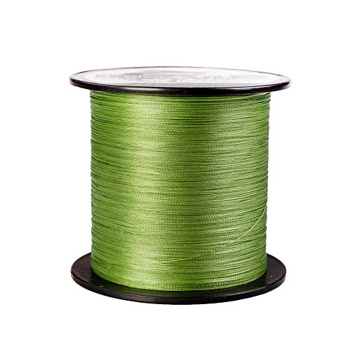 Thread Fish - HERCULES Super Strong 500M 547 Yards Braided Fishing Line 20 LB Test for Saltwater Freshwater PE Braid Fish Lines 4 Strands - Army Green, 20LB (9.1KG), 0.20MM