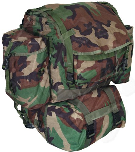 Belts Nylon Style Gi (GI Woodland Camo Standard Backpack MOLLE II w/ Sustainment Pouches)