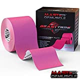 Kinesiology Tape - Ebook for Latest Strapping, Taping Applications - Therapeutic Sports Tape - Knee Shoulder Elbow Ankle Neck, Superior Waterproof & Adhesion - Latex Free FDA & CE Approved (Hot Pink)