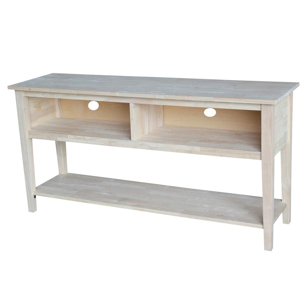 International Concepts Unfinished Entertainment/TV Stand, 60-Inch, Unfinished by International Concepts