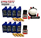 YAMAHA 24' Boat OEM Oil Change Maintenance Kit w/ 6L Extractor Pump - Jet Boat 4W Yamalube w/ 69J-13440-03-00 Filters for 2010+ AR240 SX240 HO/ 242 LIMITED/S/E-SERIES/ 242X/ 212SS/ 212X