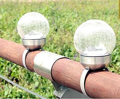New Outdoor Solarleuchten Zaun Lichter Home Rasen Boden Stecker
