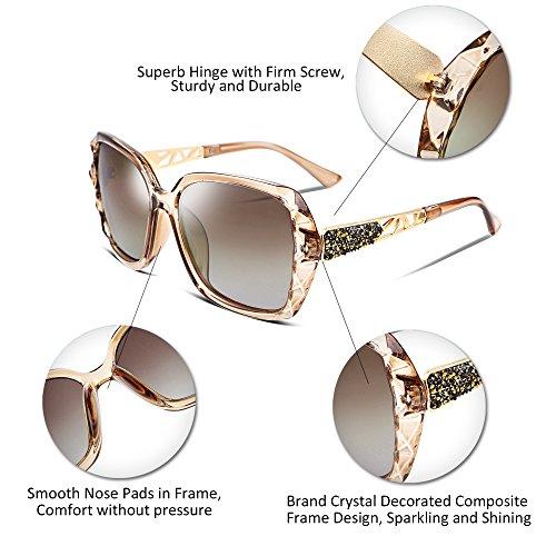 a100fe061f FEISEDY Classic Polarized Women Sunglasses Sparkling Composite Frame B2289