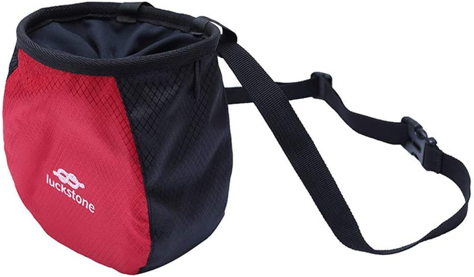 Durable Rock Climbing Chalk Bag for Rock Climbing Bouldering with Waist Belt Non-slip Powder Chalk Bag Chalk Balls /& Chalk Bag for Rock Climbing Gymnastics Weightlifting Suitable for Men and Women