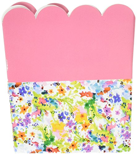 Card Treat Holders With A Floral Border  Set Of 6