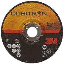 """3M Cubitron II Depressed Center Grinding Wheel T27, Precision Shaped Ceramic Grain, 15300 RPM, 4"""" Diameter x 1/4"""" Thick, 5/8"""" Arbor, 36+ Grade (Pack of 1)"""