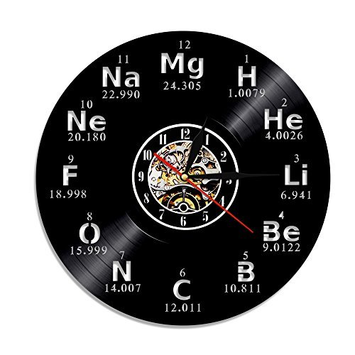 Crazypicky Chemical Element Periodic Vinyl Record 3D Wall Cl