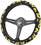 Zadin Sunflower Steering Wheel Cover | Cute and Fashionable Sunflower Steering Wheel Cover, Universal Steering Wheel Cover, Sunflower car Accessories (Sunflower)