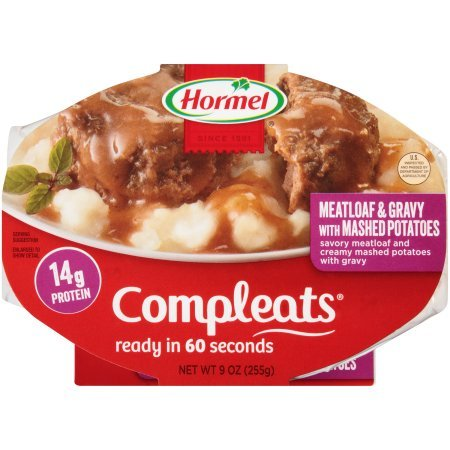 Circle Gravy - Hormel Meatloaf & Gravy with Mashed Potatoes Compleats, 9.0 Oz (Pack of 8)