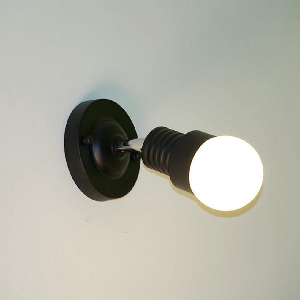 XIAOJIA Estilo americano Simple hierro pared moderna creativa restaurante café pasillo cabecera rotativa iluminación de la lámpara , black