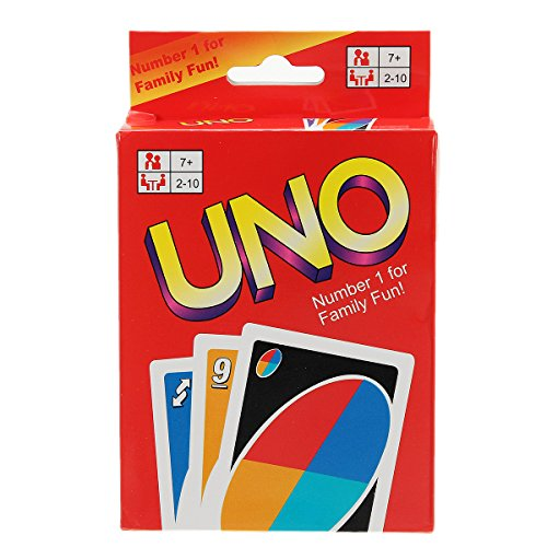 FUNTOK UNO Card Game Standard 108 Cards For Family Fun Party Kids Toy