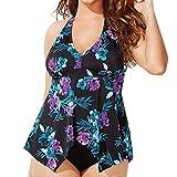 KESEELY Women Tankini Sets - Ladies Plus Size