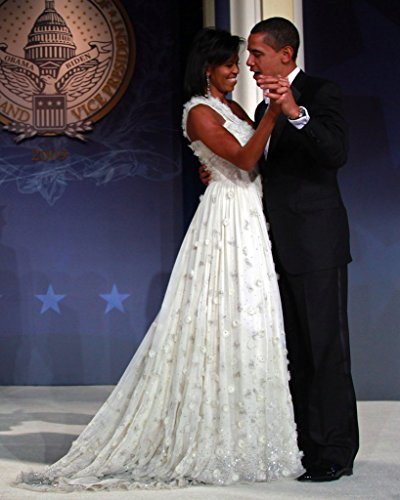 (Barack & Michelle Obama Former President with Former First Lady Portrait Color 8x10 Silver Halide Archival Quality Reproduction Photo Print )