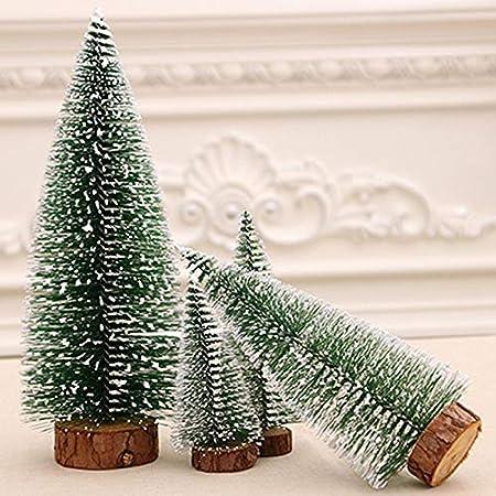 biuday Mini sisal nieve helada árboles botella cepillo árboles plástico invierno nieve adornos árboles de mesa para bricolaje decoración de la habitación ...