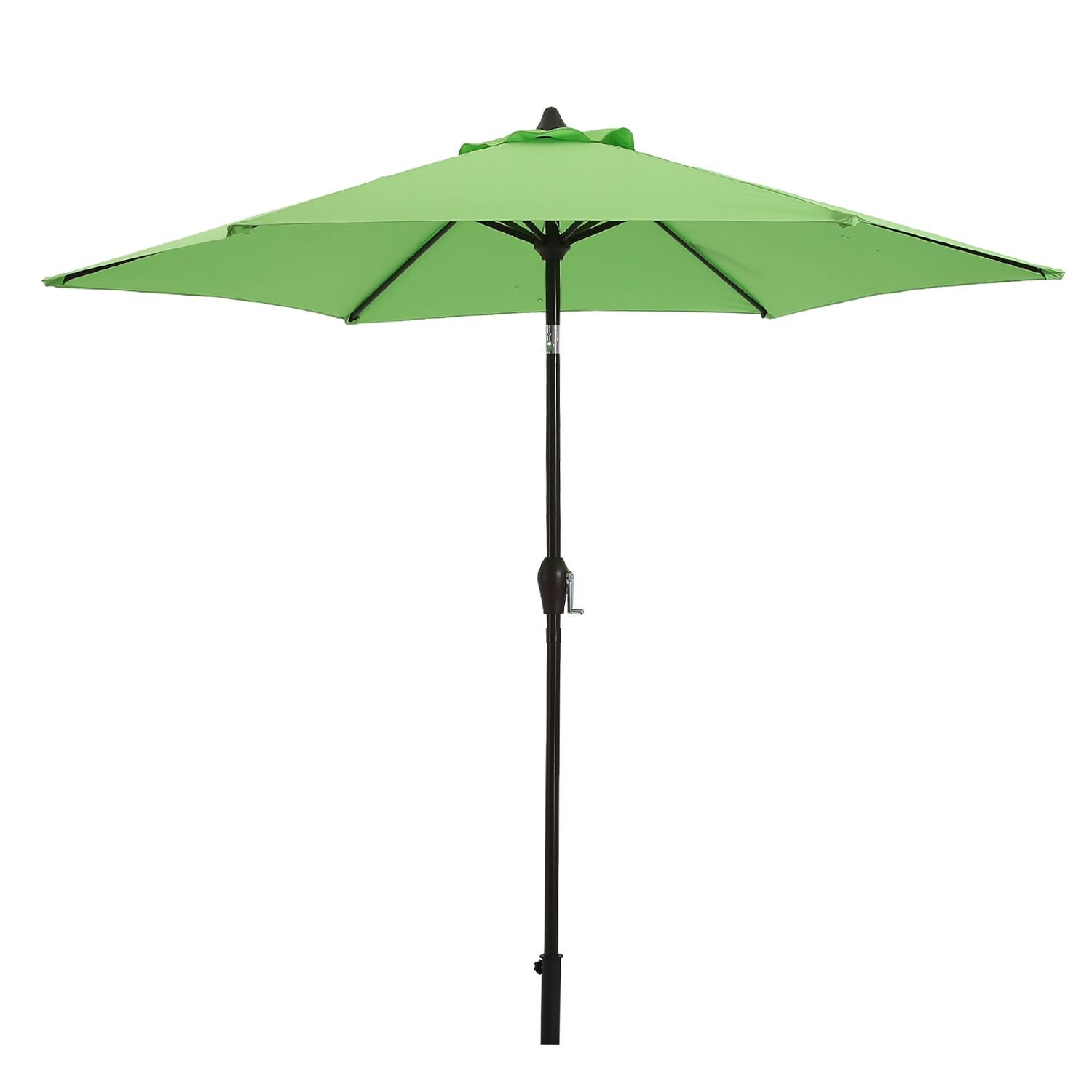 Paulla 9 Ft Patio Umbrella Outdoor Table Umbrella with Crank, 6 Ribs (Light Green)