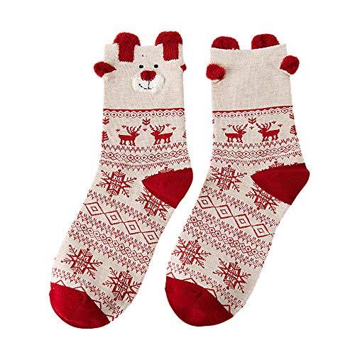 (Christmas Ghazzi Women Cotton Socks Multi-Color Christmas Printed Winter Socks On)