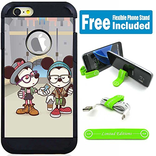 Apple iPod Touch 5/6 5th/6th Generation Hybrid Armor Defender Case Cover with Flexible Phone Stand - Disney Mickey Mouse Minnie - For Minnie Case 5 Ipod Mouse