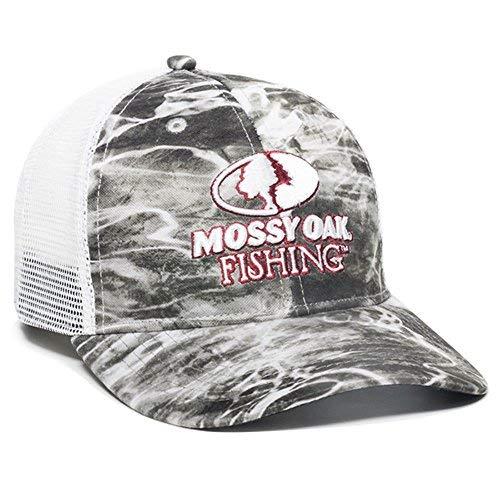 Mossy Oak MOFS15A -Mantra Outdoor Cap Mantra Mesh Back Fishing Cap, White - Mossy Oak Mesh Cap