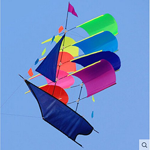 Sailing Kites With Handle 3d Stereo Sailboat Kite Performance New Modern Three-dimensional Flying Kite, Durable, Easy To (Modern Kite)