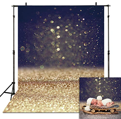- Allenjoy 5x7ft Bokeh Gold Glitter Sequin Spots Photography Backdrop Starry Sky Valentine's Day Shining Sparkle Background Party Wedding Newborn Baby Portrait Props