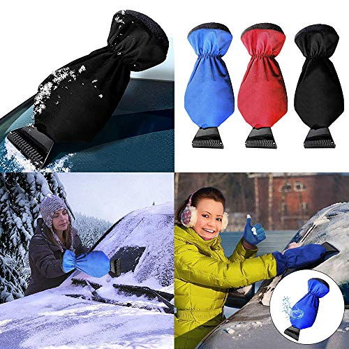 EnjoCho Snow Shovel☛☛Car-stying Snow Scraper Removal Glove Cleaning Snow Shovel ABS Ice Scraper Tool for Auto Window (38x10cm/14.96x3.93inch, Red) by EnjoCho (Image #2)