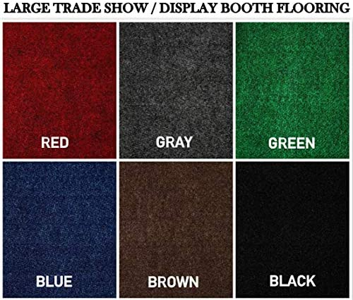 Large Custom Cut-to-Fit Trade-Show Area Rug Carpets. Custom Sizing Available to Choose from 10×10, Black