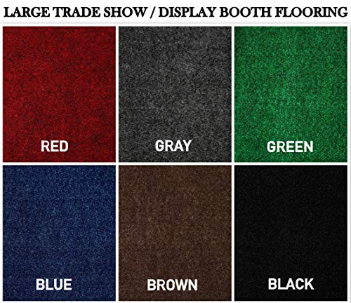 Large Custom Cut-to-Fit Trade-Show Area Rug Carpets. Custom Sizing Available to Choose from (10x10, Grey)