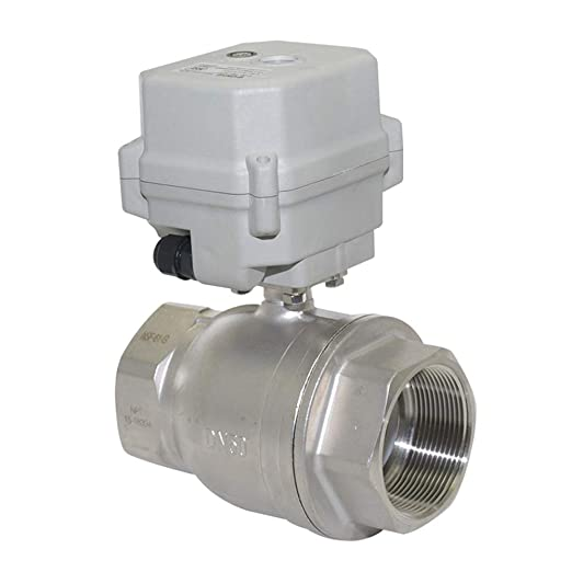 BACOENG 1//2 DN15 Stainless Steel BSP 2 Port Motorized Ball Valve AC110-230V CR202 2 Wires Normally Closed Electric Ball Valve