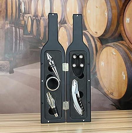 Accesorios de vino, Abridor de Botellas Vino, Set Abrebotellas de Vino, Sacacorchos de Acero Inoxidable, Kit de Abridor de Vino, Caja de Regalo Para Amantes del Vino: Pack de 5 piezas