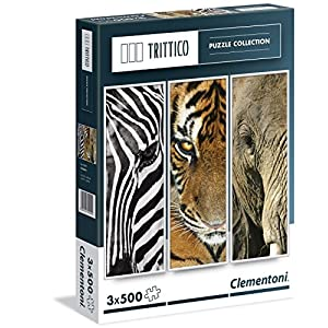 Clementoni 39307 Animals Puzzle Trittico 3x500 Pezzi